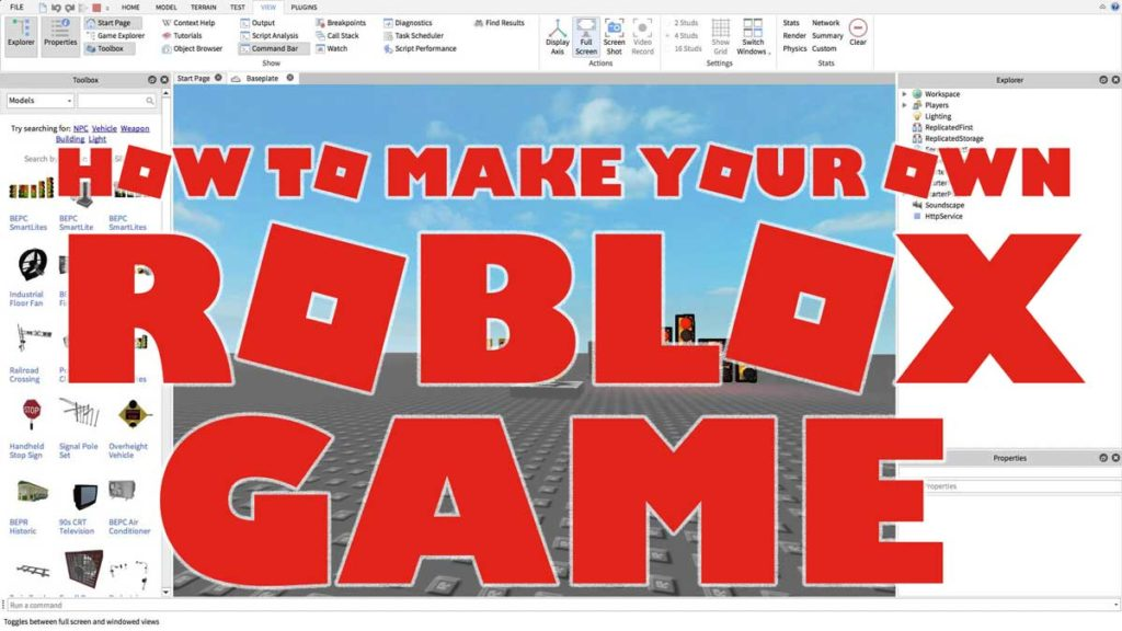 How To Make A Roblox Game - 2019 Beginner Tutorial! (1 ...